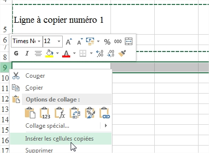 Hauteur de ligne conservée lors la copie Excel