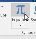 Système d'équations dans Word