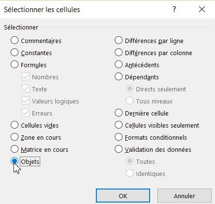 Supprimer toutes les images d'une feuille Excel