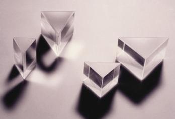 Prisme en verre Corwn