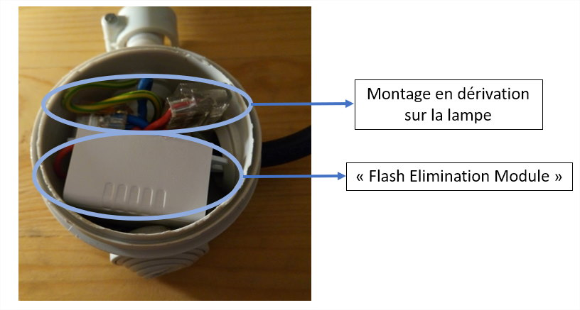 Branchement flash elimination module