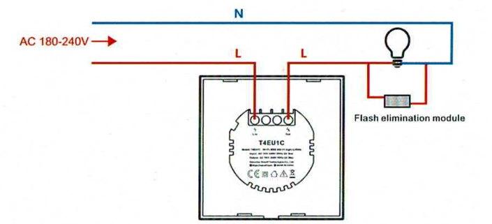 Schéma branchement interrupteur connecté Sonoff
