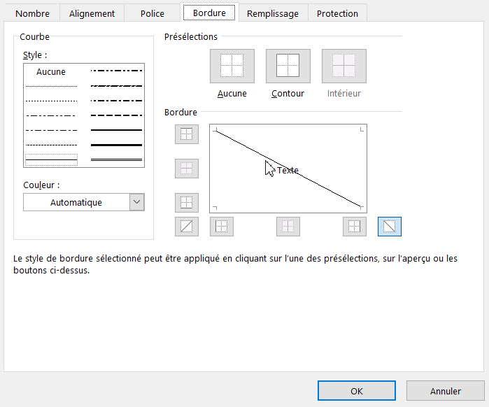 Cellule tableau à double entrée Excel