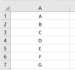 Suite de lettres Excel