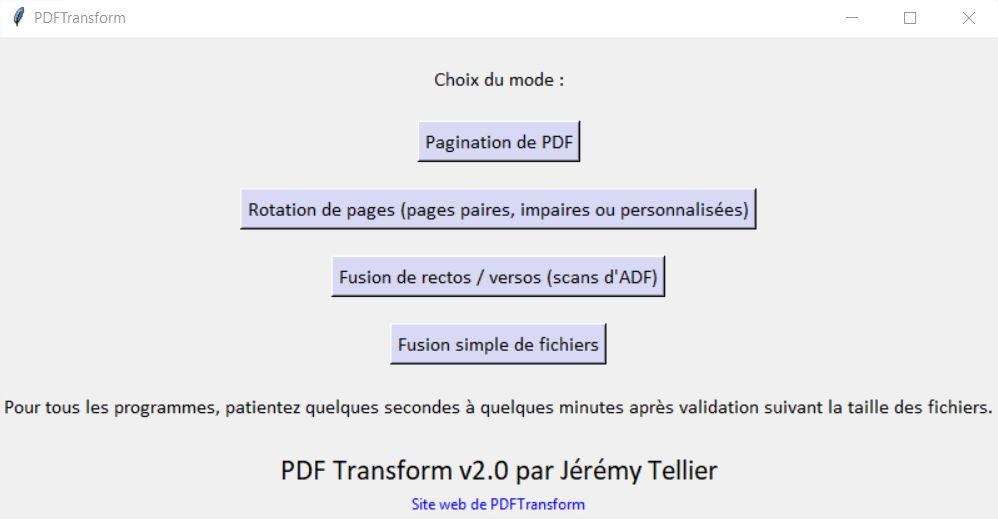 PDFTransform modifier facilement des fichiers PDF